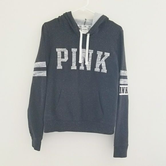 PINK Victoria's Secret Tops - PINK VS Pull Over Hoodie Black Size M